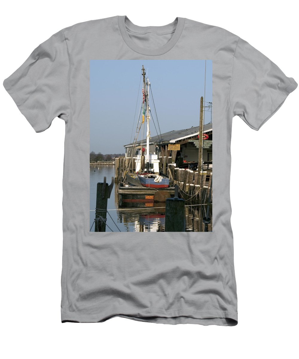 Boat Men's T-Shirt (Athletic Fit) featuring the photograph Janet by Steven Natanson