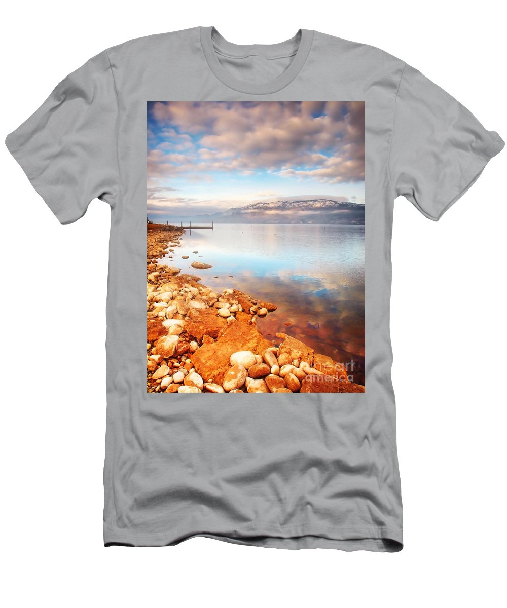 Lake Men's T-Shirt (Athletic Fit) featuring the photograph January 19 2010 by Tara Turner