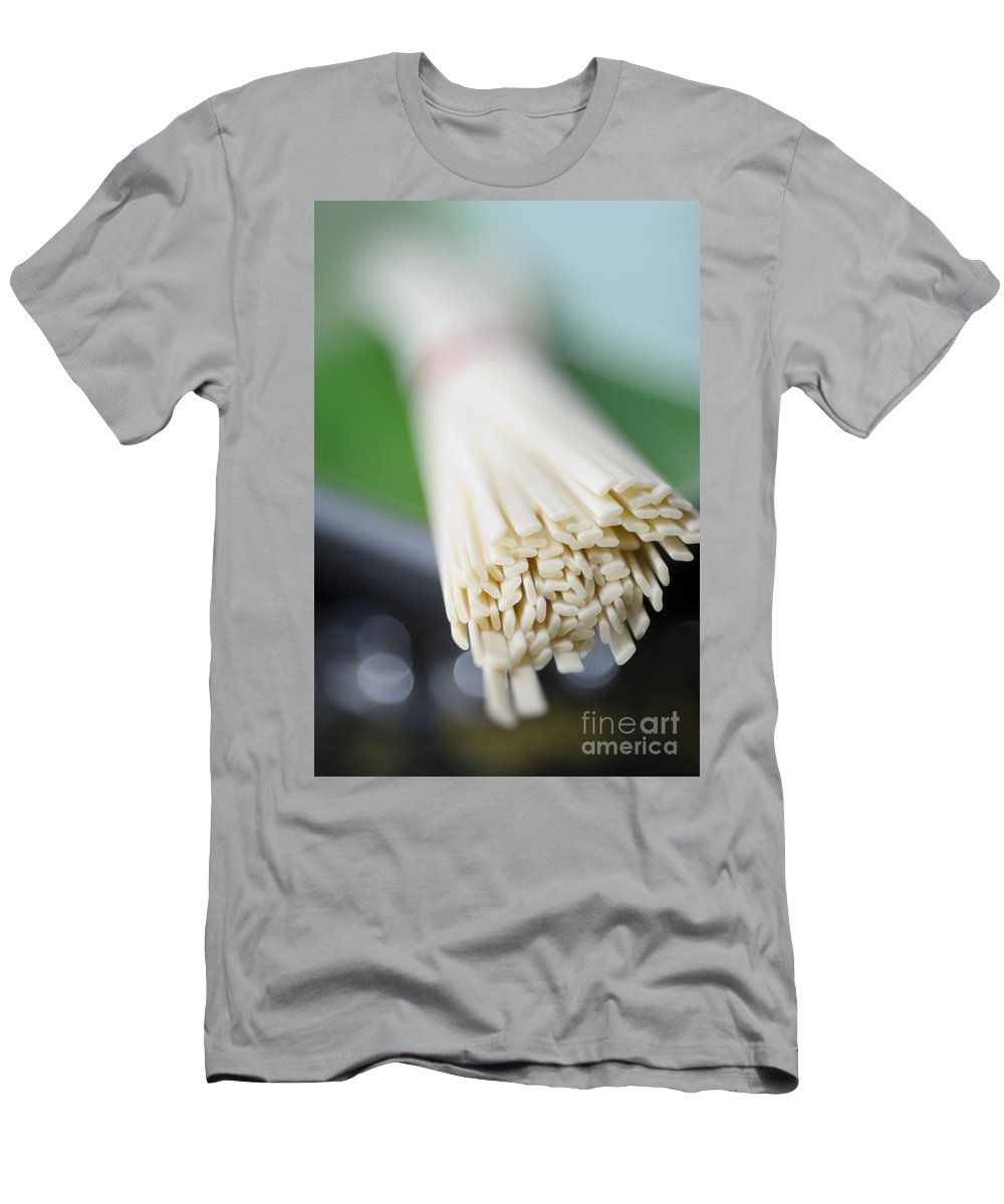 Abstract Men's T-Shirt (Athletic Fit) featuring the photograph Japanese Udon by Ray Laskowitz - Printscapes