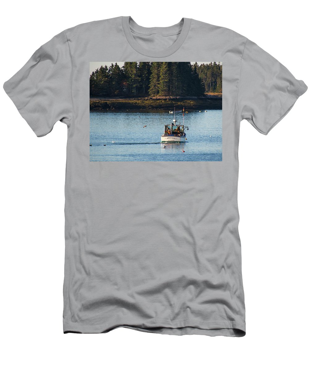 Jonesport Men's T-Shirt (Athletic Fit) featuring the photograph Jonespot, Maine by Trace Kittrell