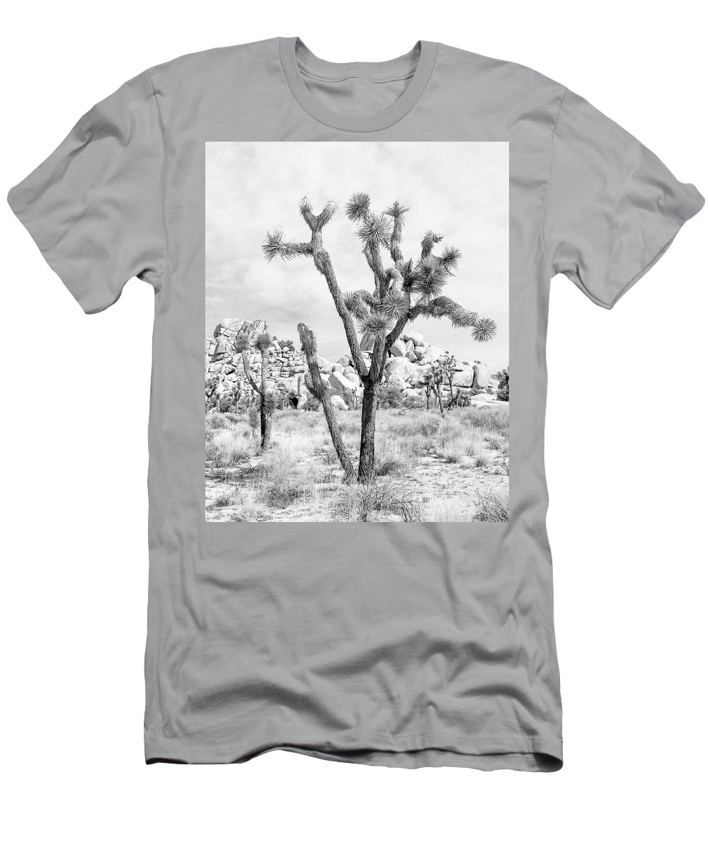 Joshua Tree Men's T-Shirt (Athletic Fit) featuring the photograph Joshua Tree Branches by Alex Snay