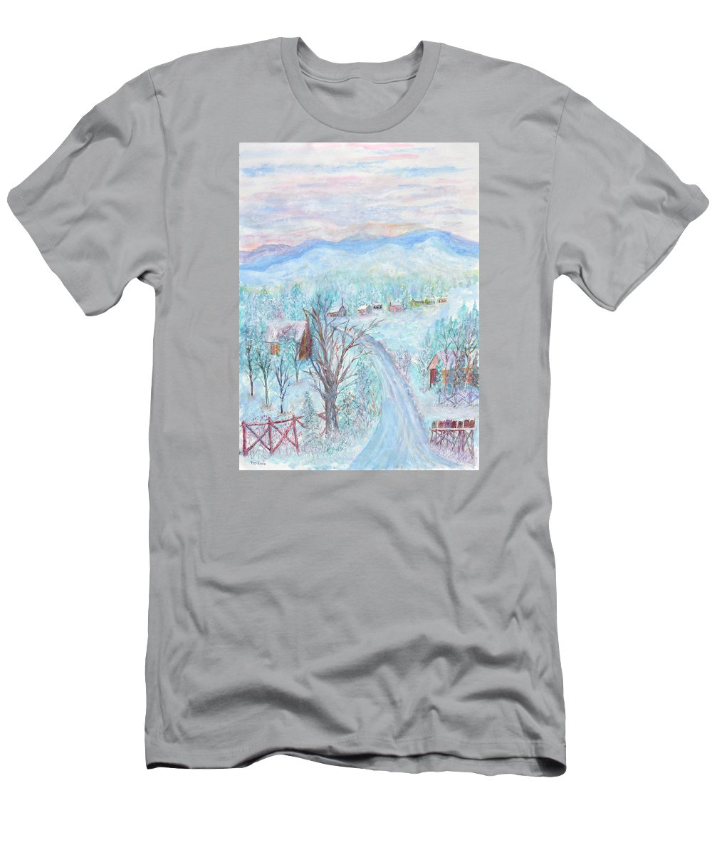 Winter T-Shirt featuring the painting Joy of Winter by Ben Kiger