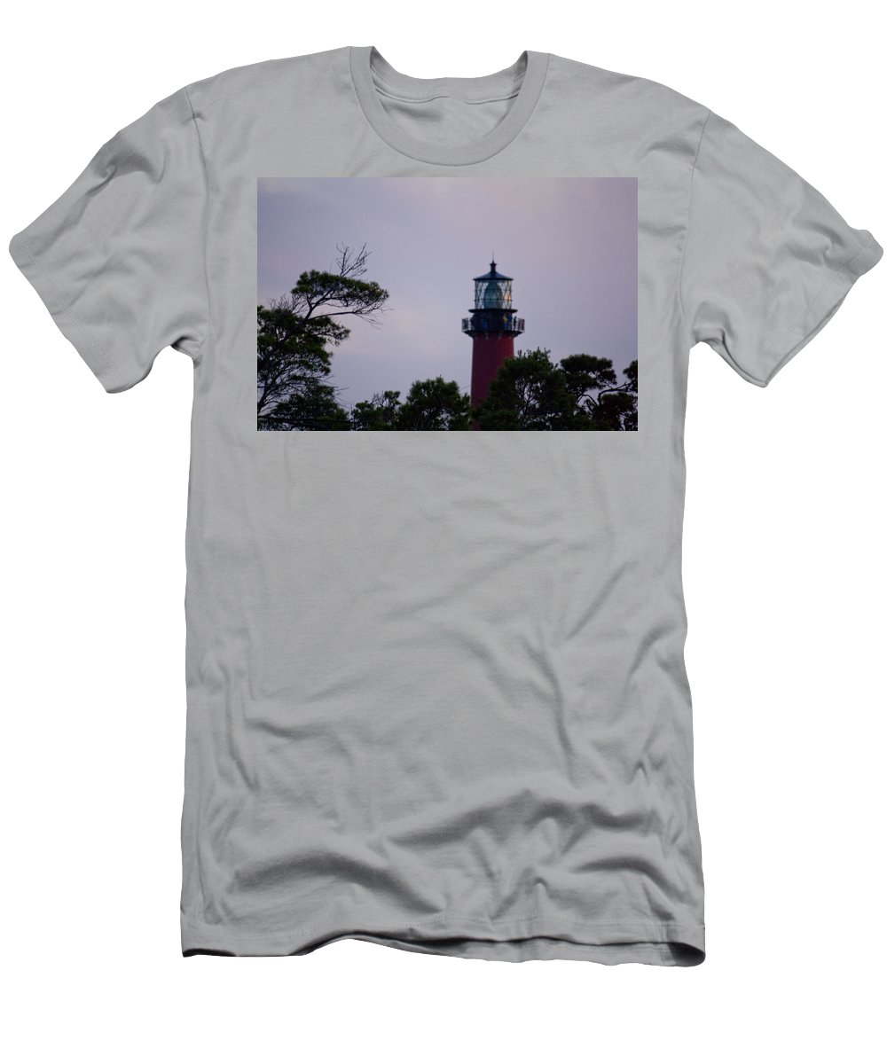 Jupiter Inlet Men's T-Shirt (Athletic Fit) featuring the photograph Jupiter Lighthouse by Donna Walsh
