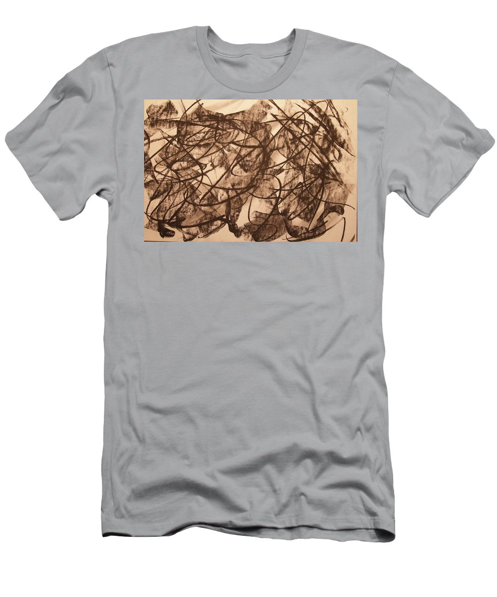 Abstract Men's T-Shirt (Athletic Fit) featuring the drawing Jurisdiction Indine by David Barnicoat