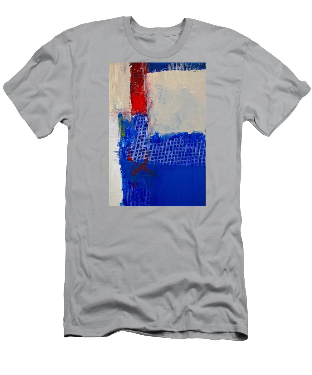 Abstract Paintings Men's T-Shirt (Athletic Fit) featuring the painting Just Meshing Around by Cliff Spohn