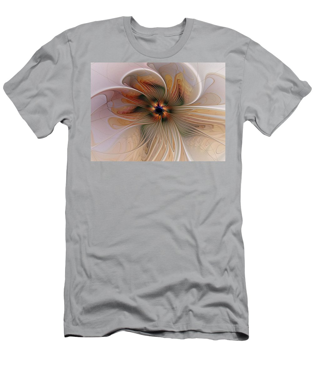 Digital Art Men's T-Shirt (Athletic Fit) featuring the digital art Just Peachy by Amanda Moore