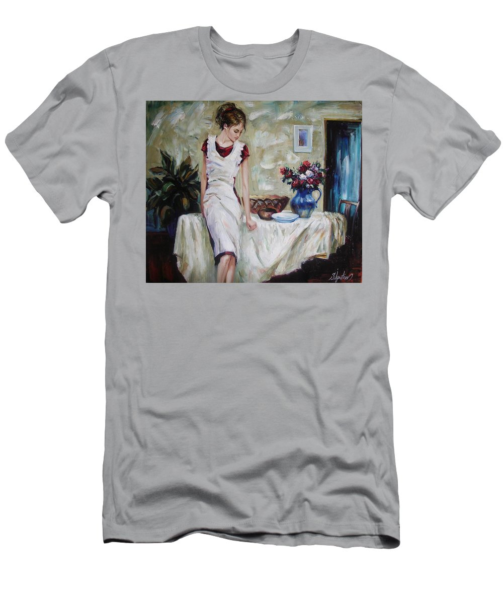 Figurative Men's T-Shirt (Athletic Fit) featuring the painting Just The Next Day by Sergey Ignatenko