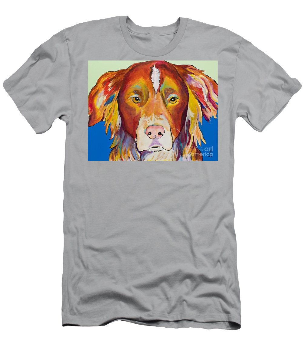 Australian Border Collie Men's T-Shirt (Athletic Fit) featuring the painting Keef by Pat Saunders-White
