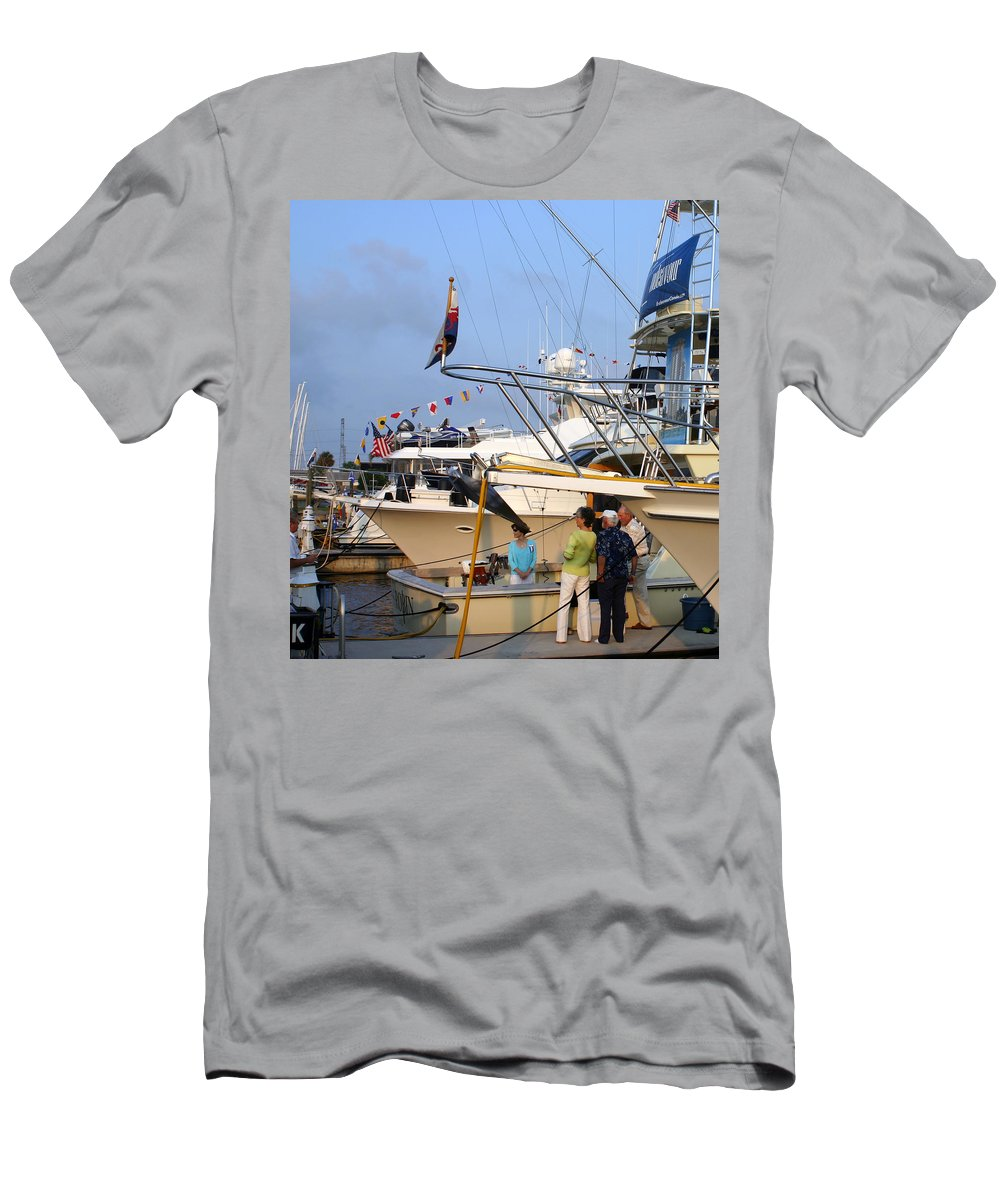 Yacht Portraits Men's T-Shirt (Athletic Fit) featuring the photograph Keels And Wheels Yachta Yachta Yachta Yachta by Jack Pumphrey