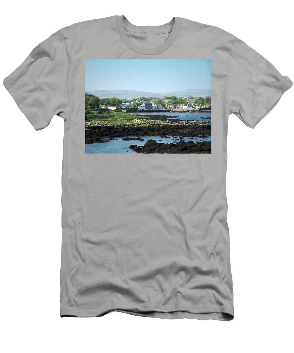 Irish Men's T-Shirt (Athletic Fit) featuring the photograph Kinvara Seaside Village Galway Ireland by Teresa Mucha