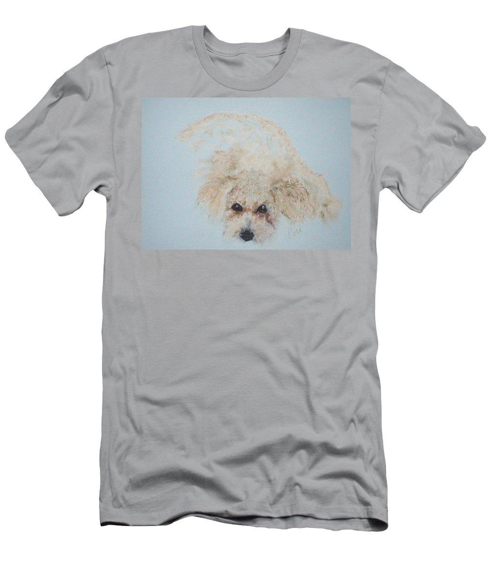 Dog T-Shirt featuring the drawing Kuku by Cori Solomon