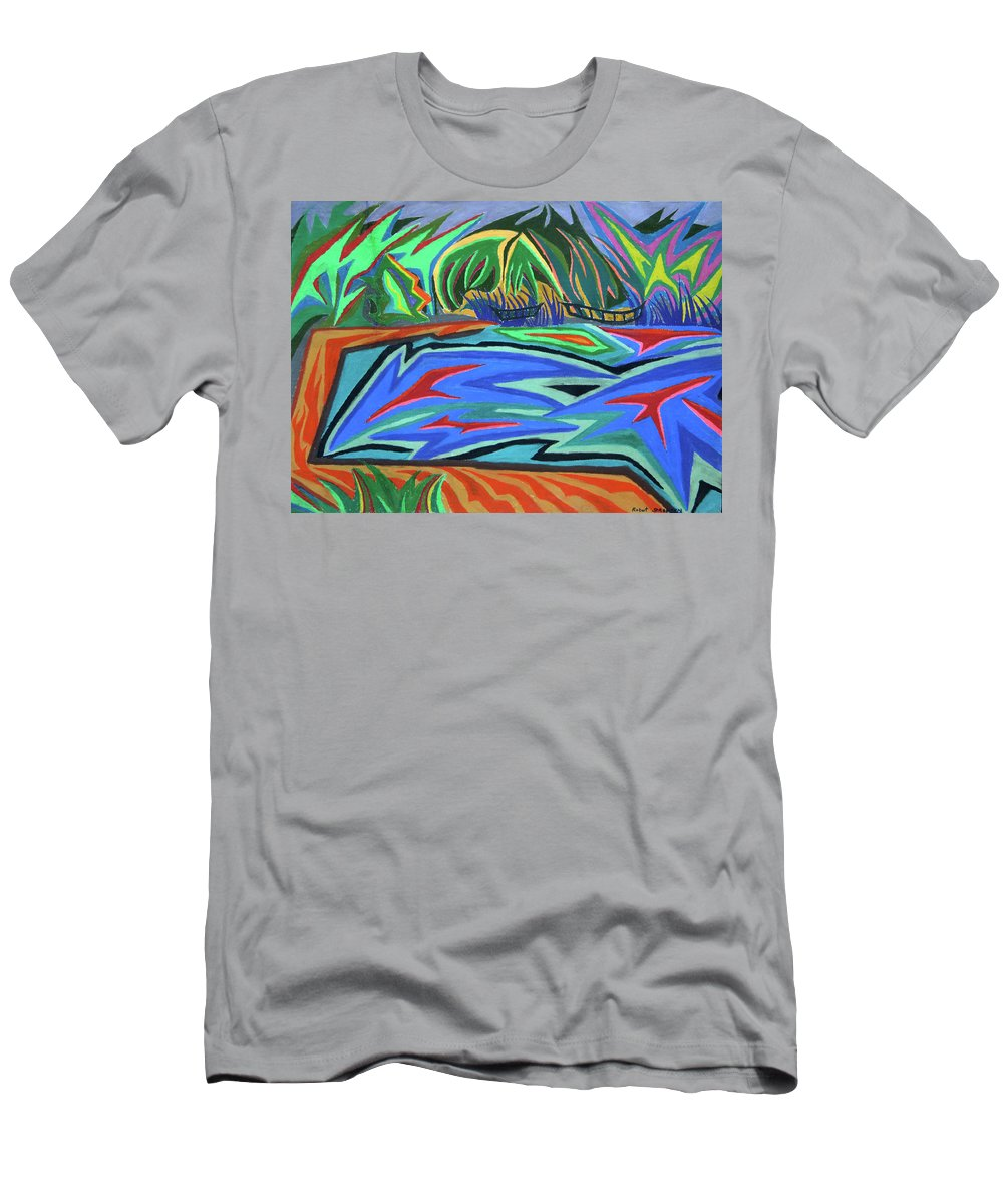 Laureate Men's T-Shirt (Athletic Fit) featuring the painting Lac Aura by Robert SORENSEN