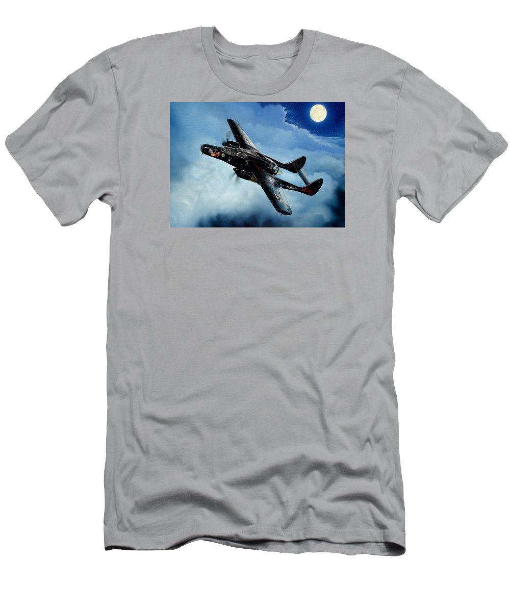 Military T-Shirt featuring the painting Lady in the Dark by Marc Stewart
