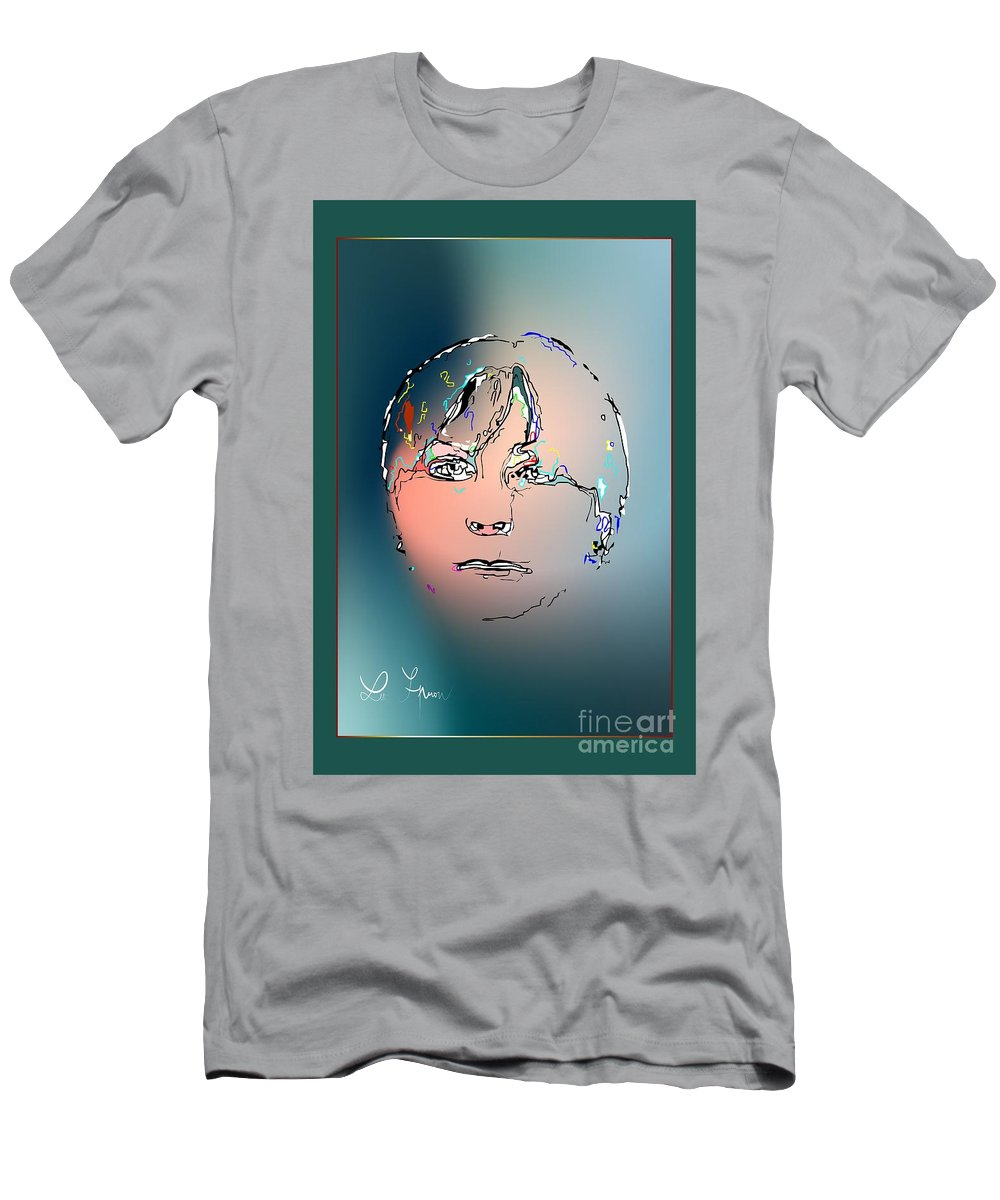 Lady Men's T-Shirt (Athletic Fit) featuring the digital art Lady M by Leo Symon