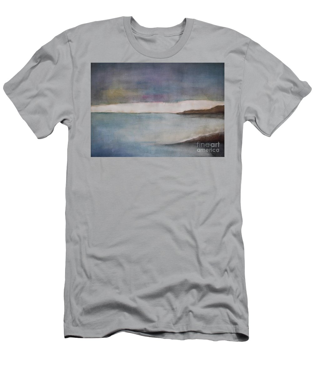 Ocean T-Shirt featuring the painting Lagoon Bleu by Vesna Antic