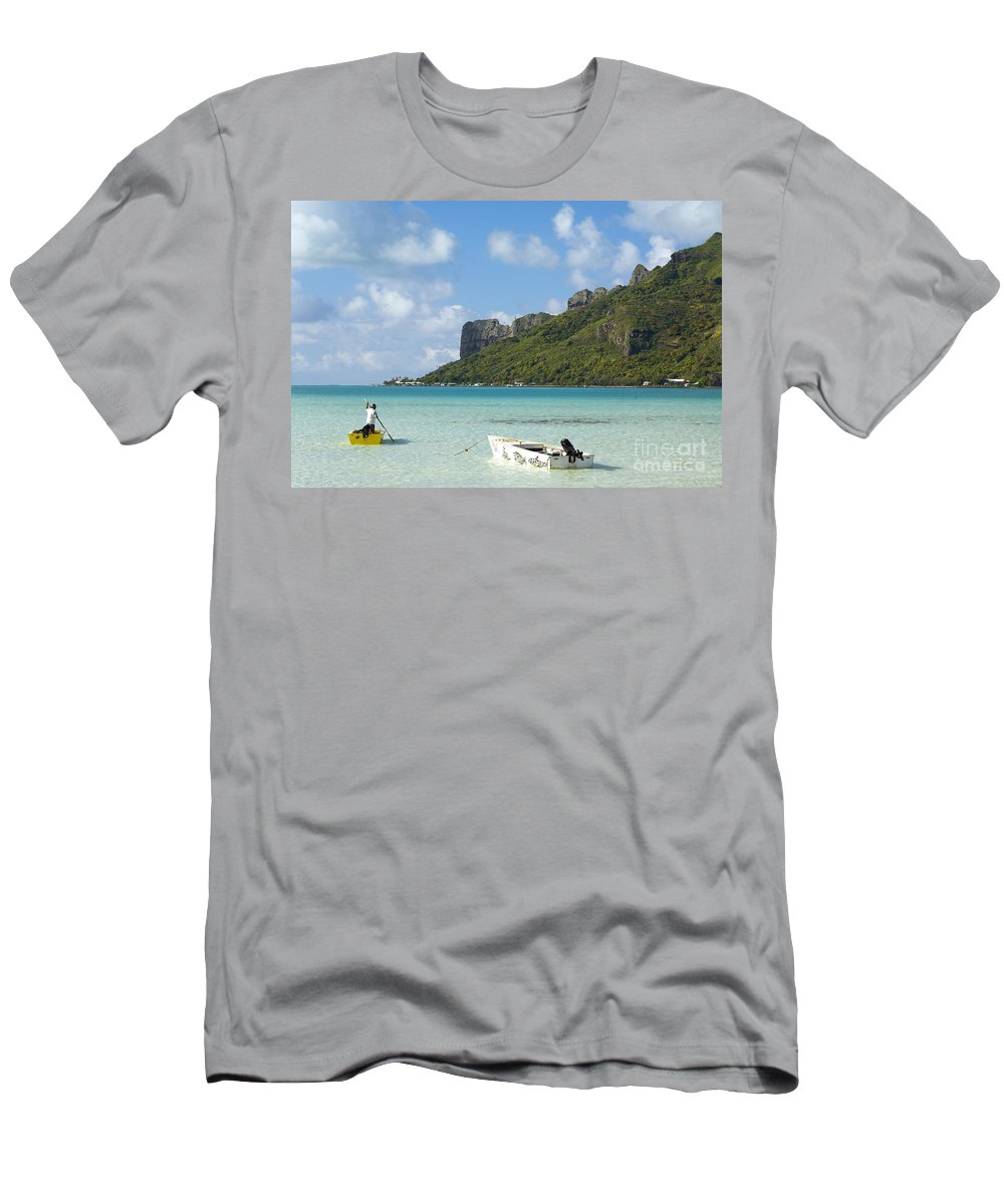 Beautiful Men's T-Shirt (Athletic Fit) featuring the photograph Lagoon At Maupiti by Kyle Rothenborg - Printscapes