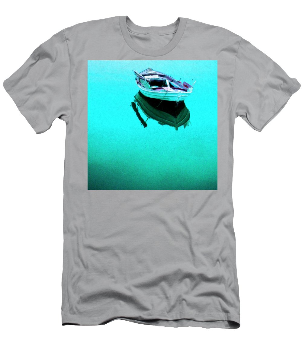 Lagoon Men's T-Shirt (Athletic Fit) featuring the painting Lagoon by Dominic Piperata