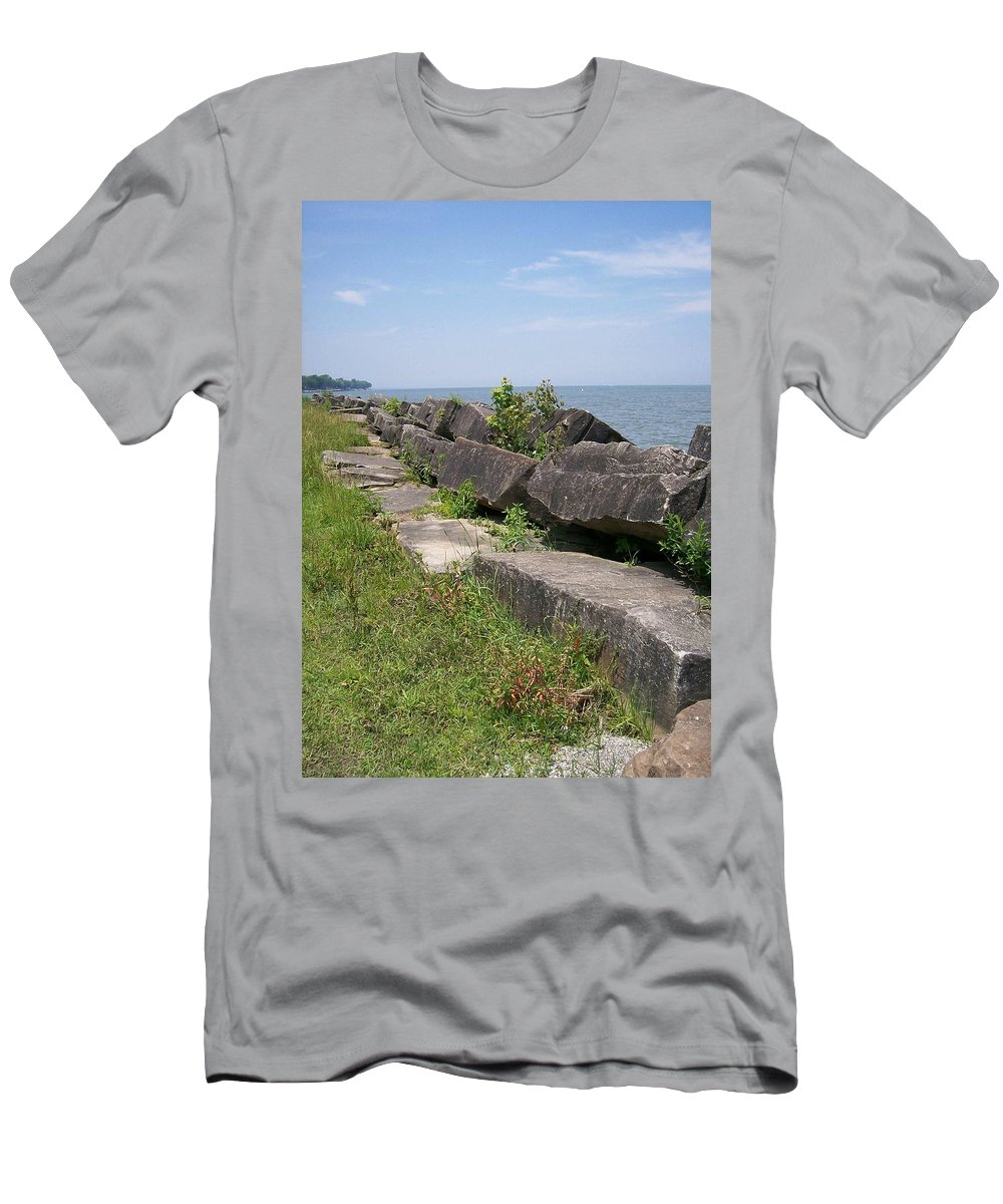 Lake Men's T-Shirt (Athletic Fit) featuring the photograph Lake Front Park by Sara Raber