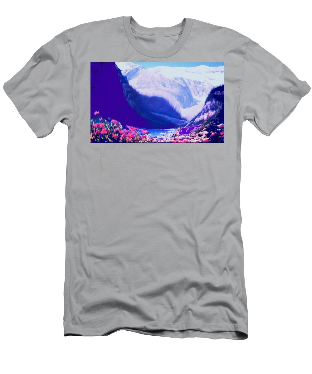 Lake Louise Men's T-Shirt (Athletic Fit) featuring the photograph Lake Louise by Ian MacDonald
