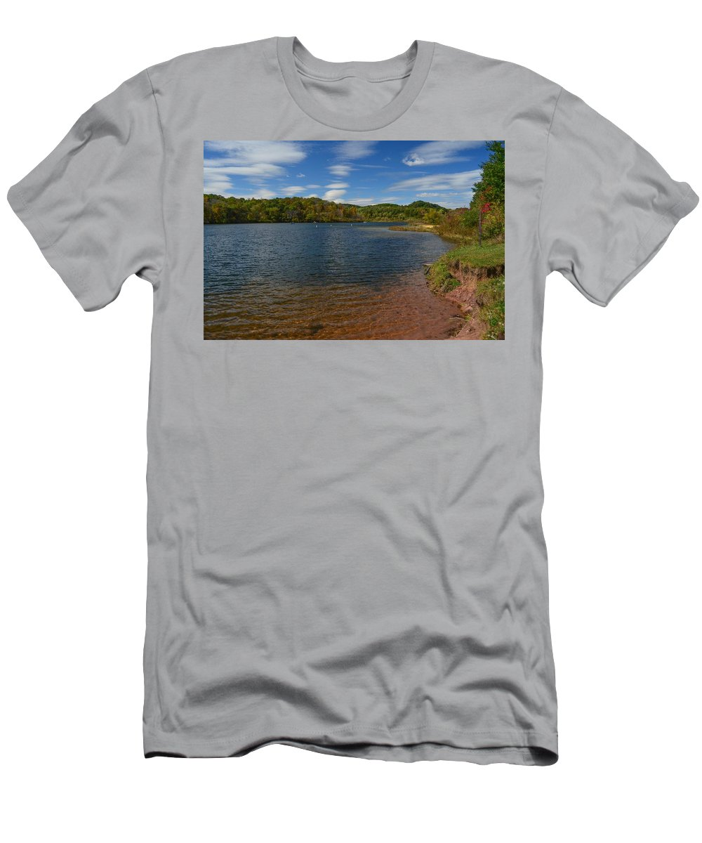 Lake Men's T-Shirt (Athletic Fit) featuring the photograph Lake View by Robert Coffey