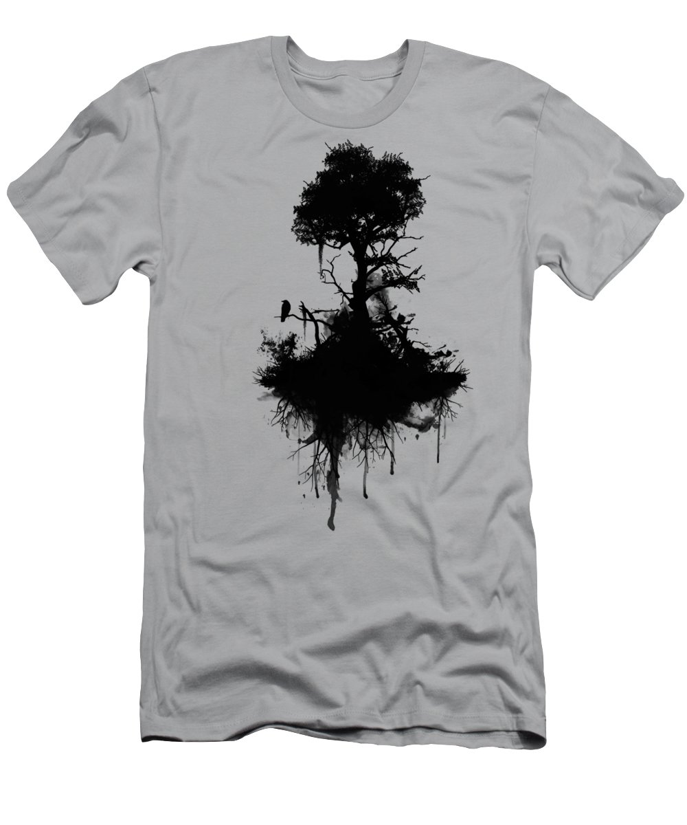 Nature Men's T-Shirt (Athletic Fit) featuring the painting Last Tree Standing by Nicklas Gustafsson