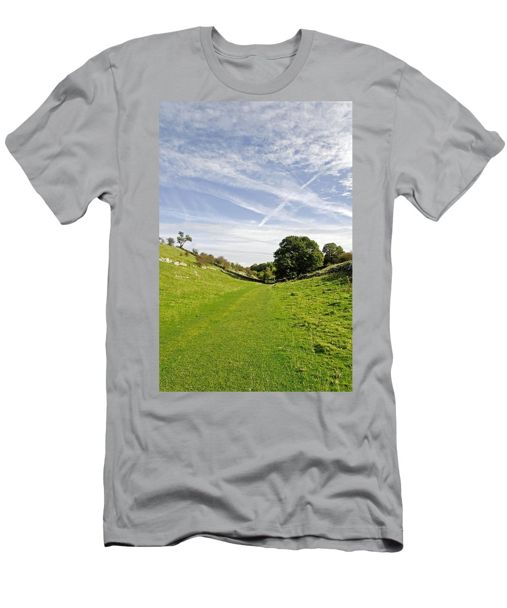 Lathkill Dale Men's T-Shirt (Athletic Fit) featuring the photograph Lathkill Dale by Rod Johnson