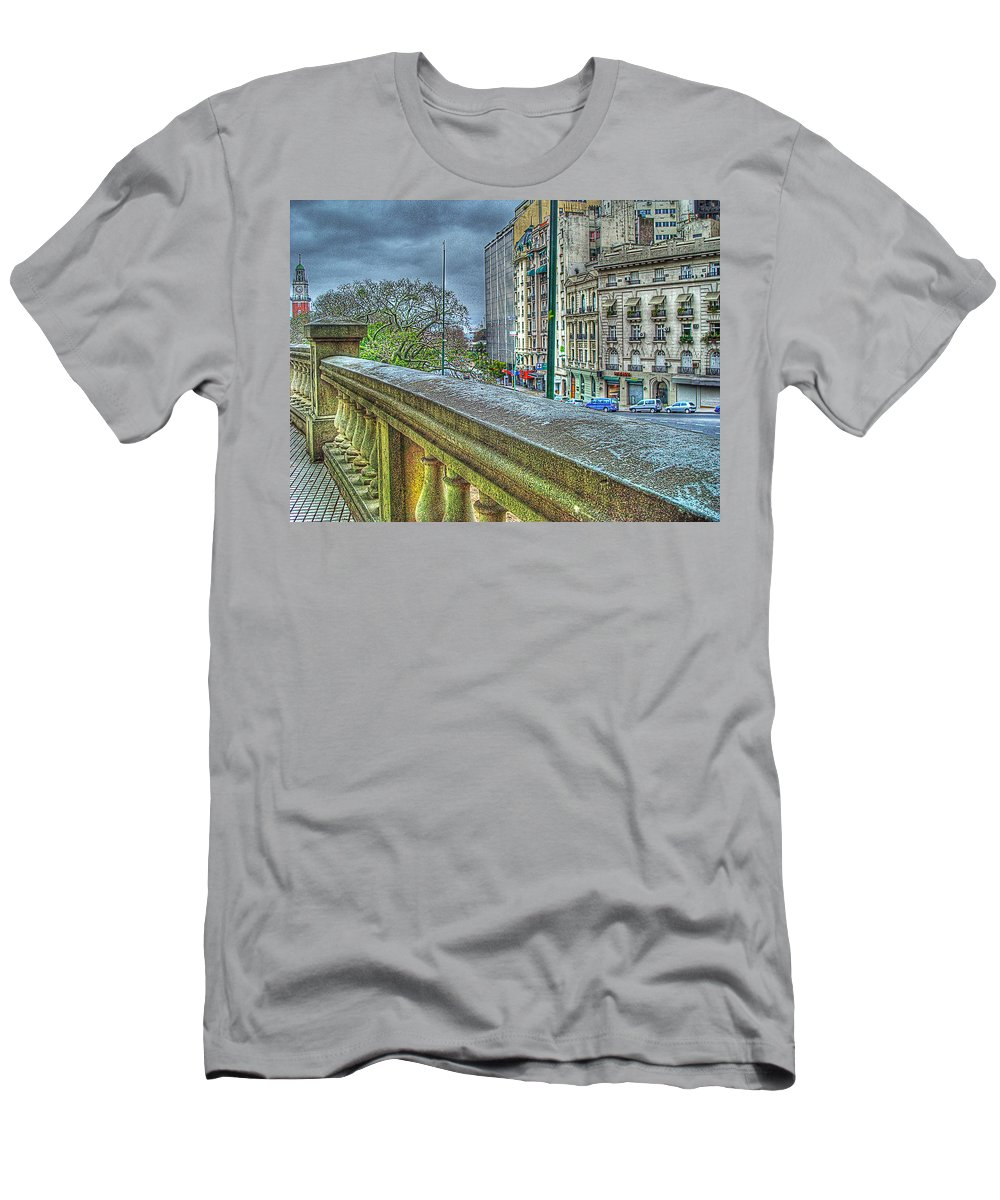 City Men's T-Shirt (Athletic Fit) featuring the photograph Leandro Lam by Francisco Colon
