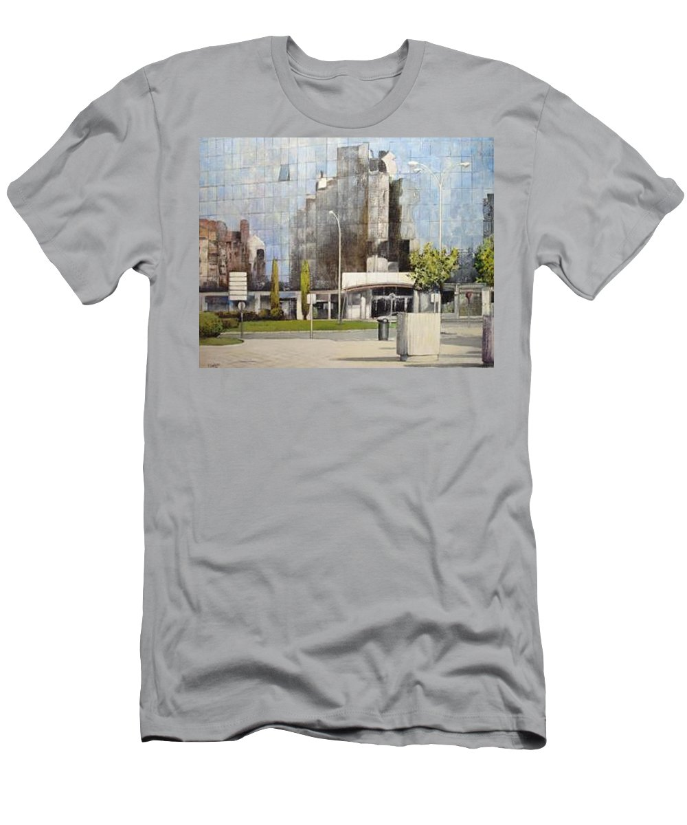 Leon T-Shirt featuring the painting Leon by Tomas Castano