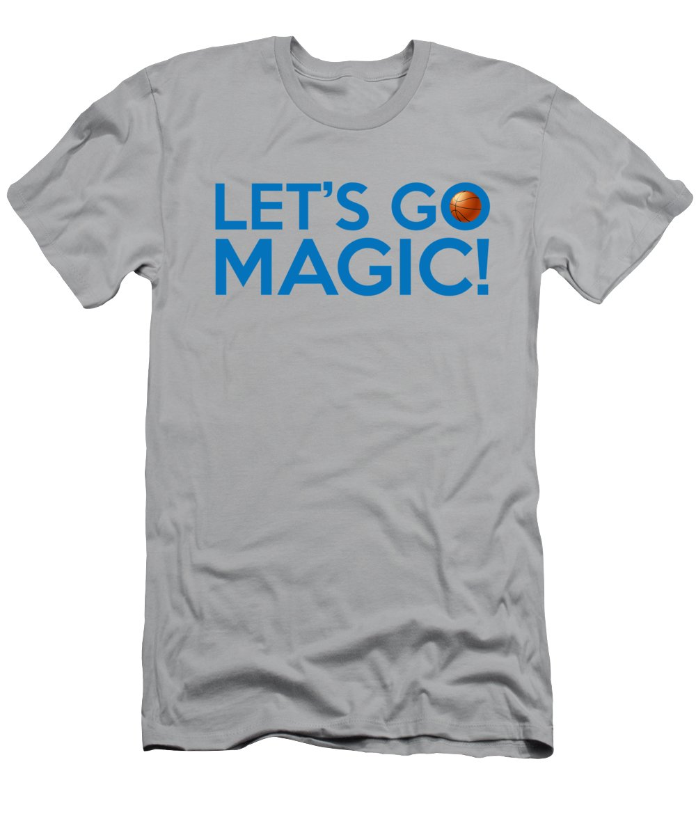 5fbb9aac2c1 Orlando Magic Men s T-Shirt (Athletic Fit) featuring the painting Let s Go  Magic