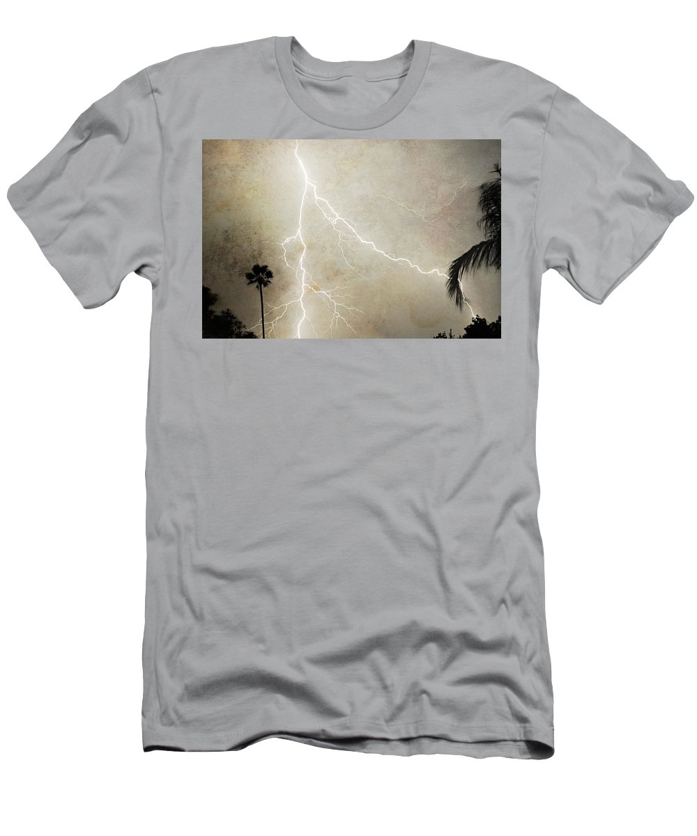Lightning Men's T-Shirt (Athletic Fit) featuring the photograph Let's Split by James BO Insogna
