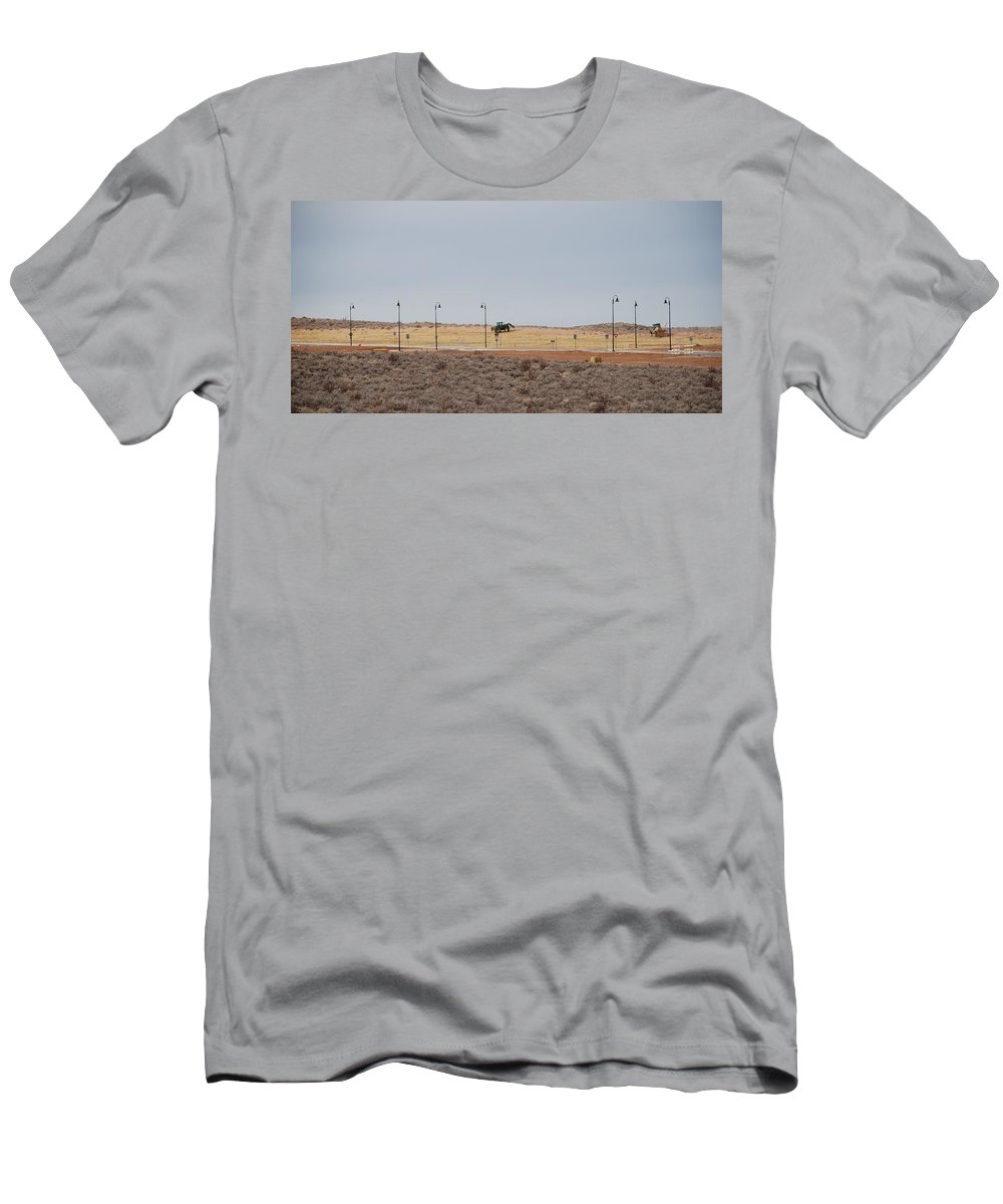 Trackor Men's T-Shirt (Athletic Fit) featuring the photograph Levels Of Land by Rob Hans