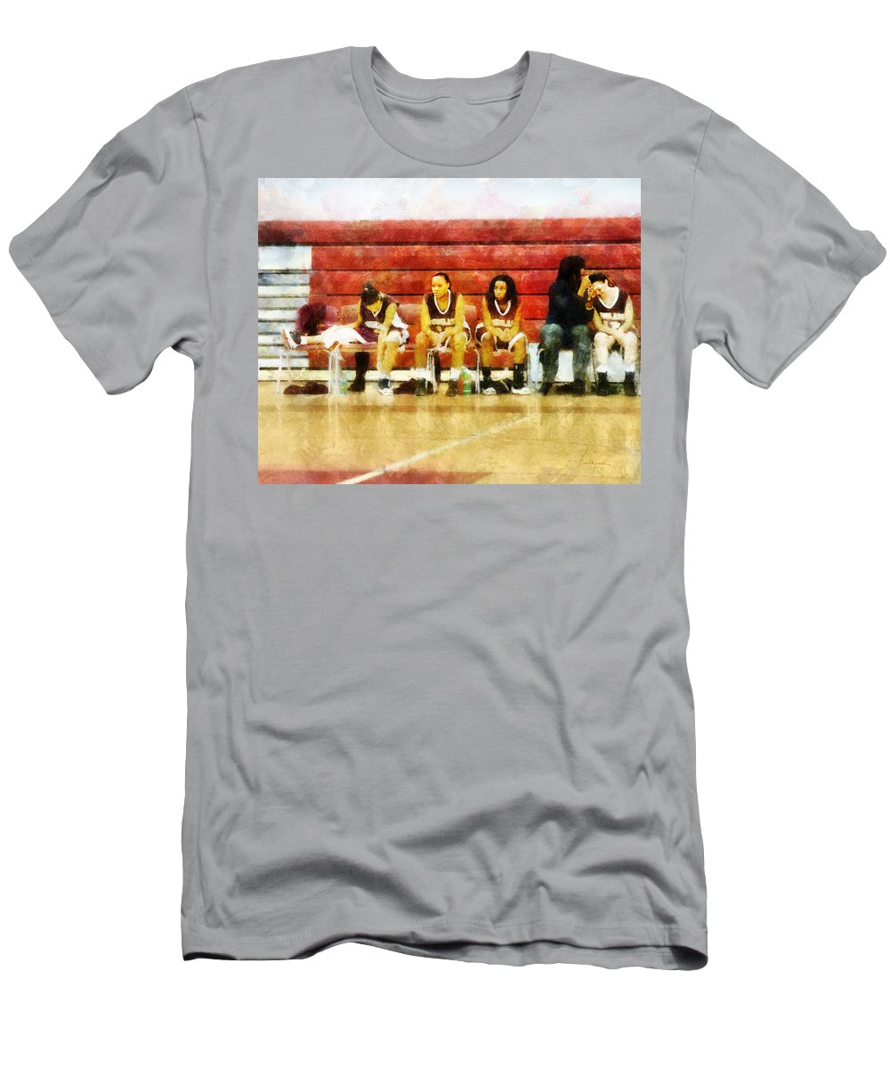 Bench Men's T-Shirt (Athletic Fit) featuring the digital art Life On The Bench by Francesa Miller