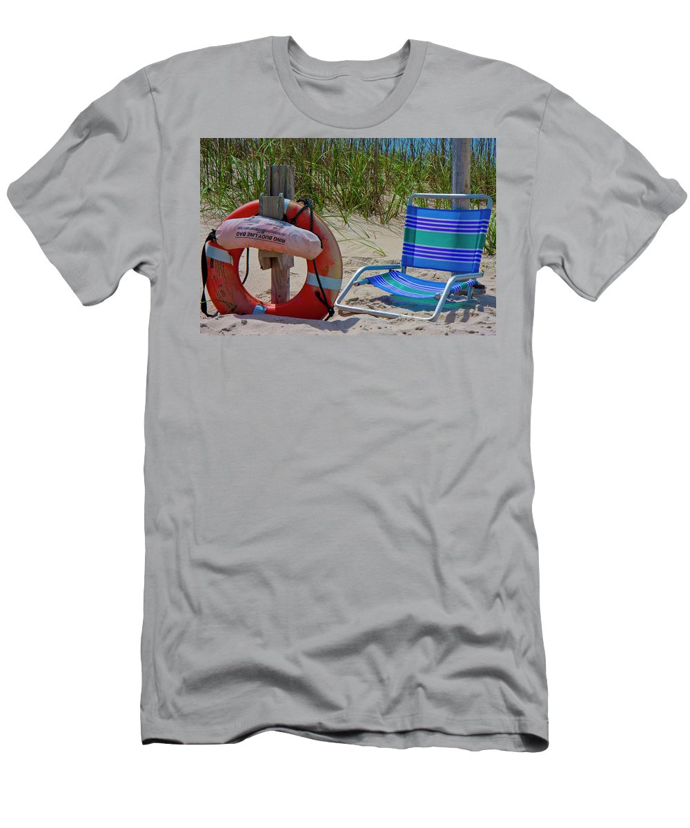 Bald Men's T-Shirt (Athletic Fit) featuring the photograph Life Saver by Betsy Knapp