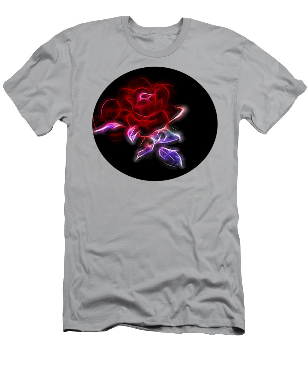 Nature Men's T-Shirt (Athletic Fit) featuring the photograph Light Play Rose by Linda Phelps