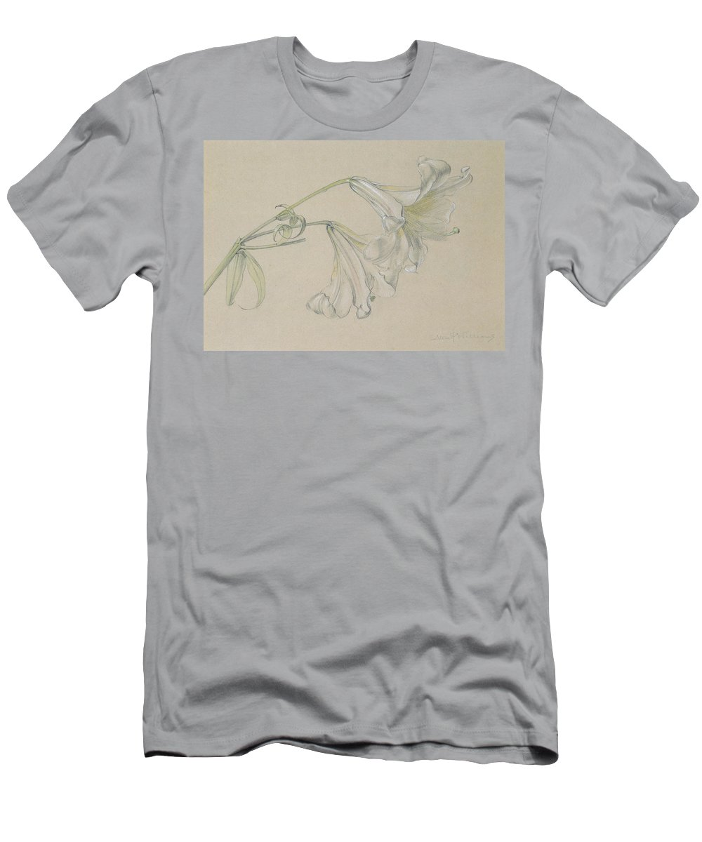 Flower Men's T-Shirt (Athletic Fit) featuring the drawing Lily by Albert Williams