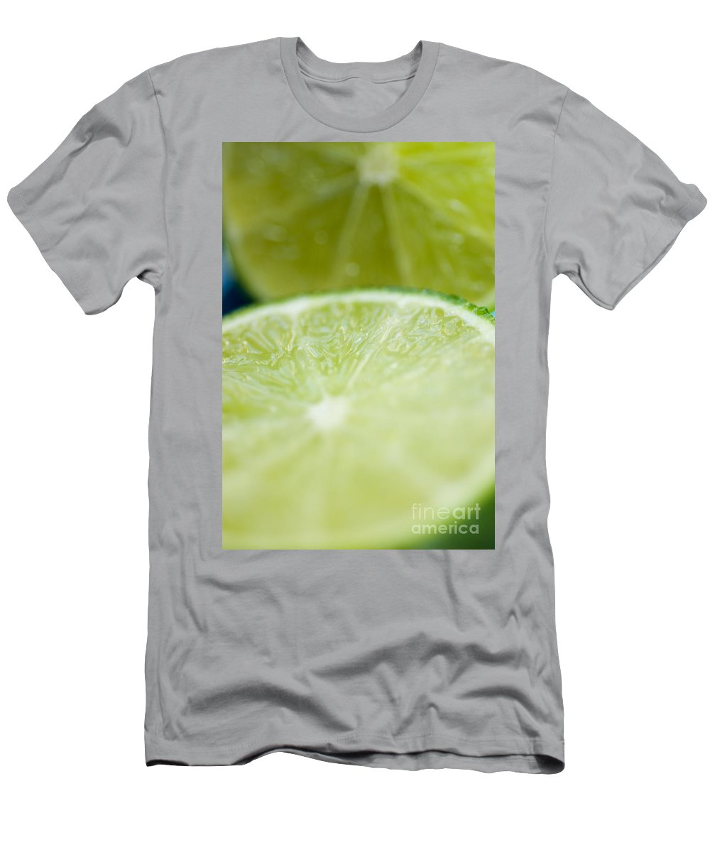 Blur Men's T-Shirt (Athletic Fit) featuring the photograph Lime Cut by Ray Laskowitz - Printscapes