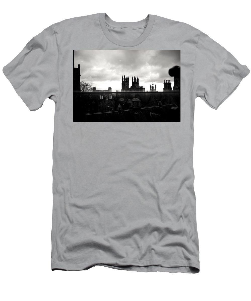 Edinburgh Men's T-Shirt (Athletic Fit) featuring the photograph Line. by Lholi