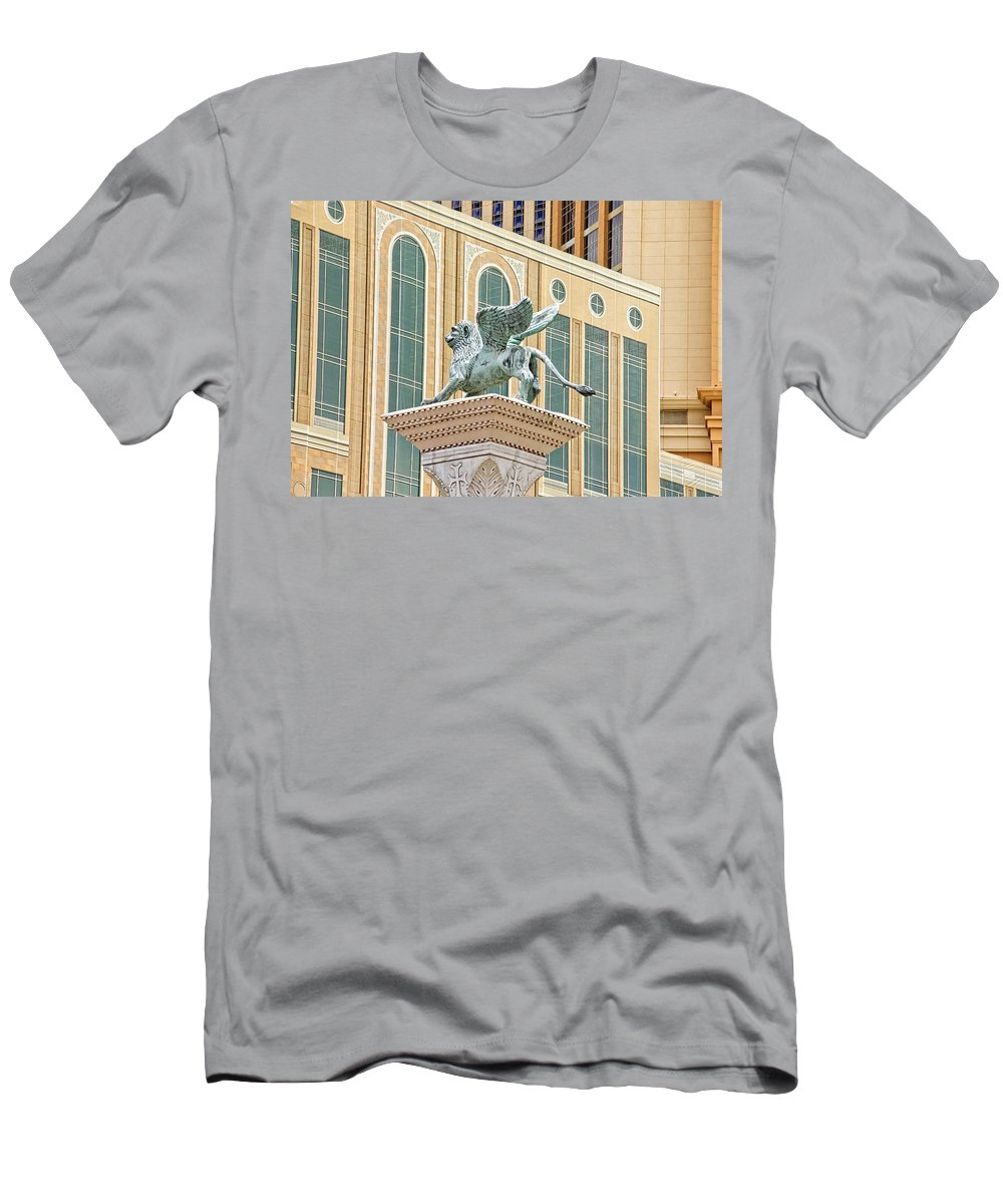 Alicegipsonphotographs Men's T-Shirt (Athletic Fit) featuring the photograph Lion Angel by Alice Gipson