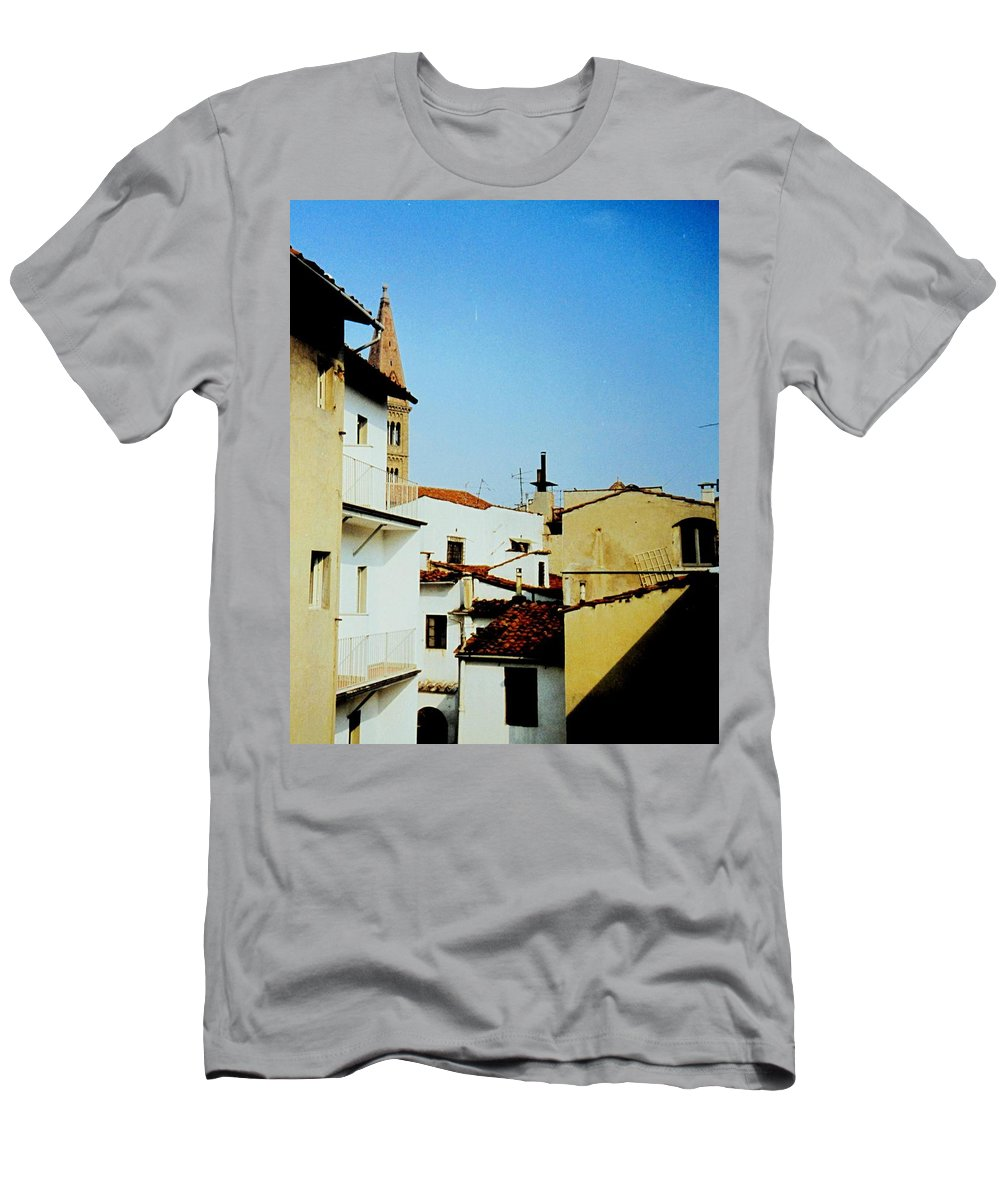 Lisbon Men's T-Shirt (Athletic Fit) featuring the photograph Lisbon Angles by Ian MacDonald