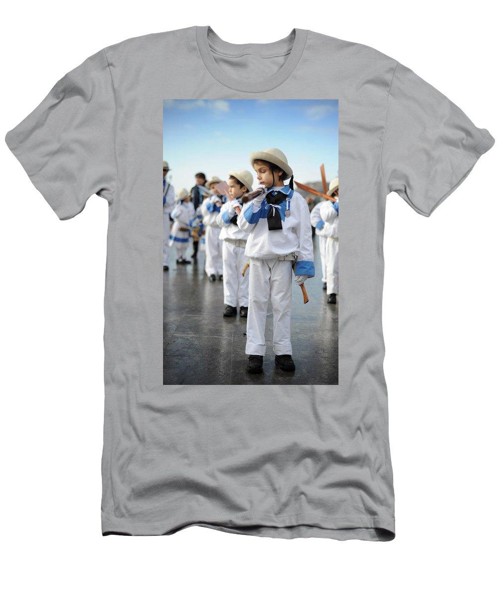 Spain Men's T-Shirt (Athletic Fit) featuring the photograph Little Sailors by Rafa Rivas
