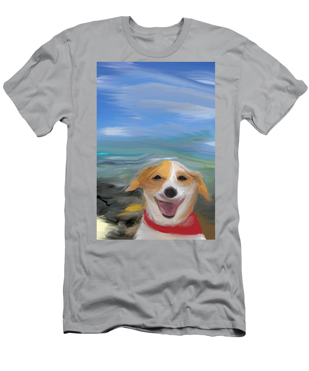 Dog Men's T-Shirt (Athletic Fit) featuring the photograph Living The Dream by Trish Tritz