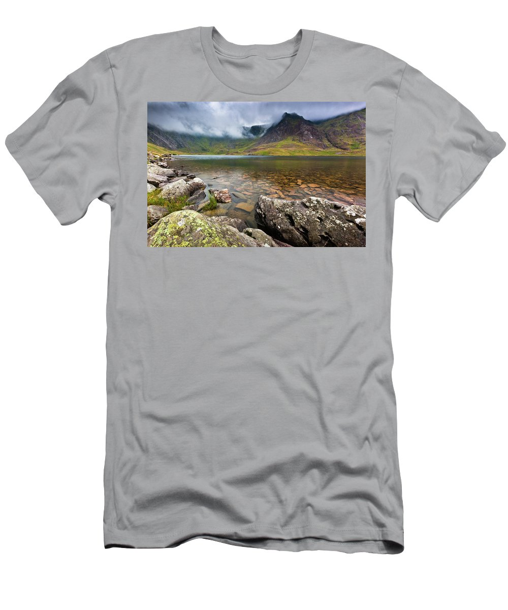 T-Shirt featuring the photograph Llyn Idwal #1, Cwm Idwal, Snowdonia, North Wales by Anthony Lawlor