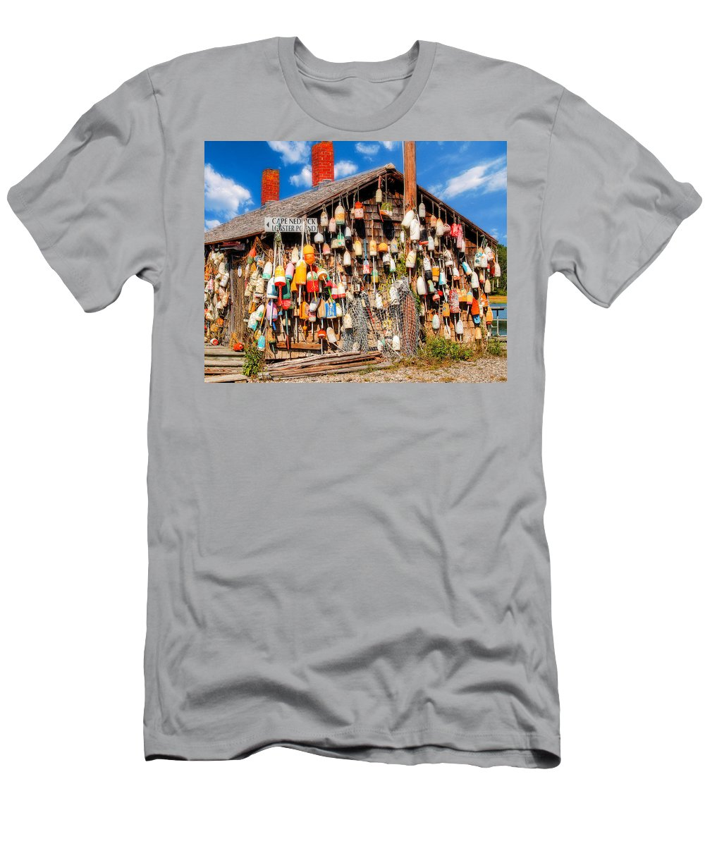 Cape Cod Trip Men's T-Shirt (Athletic Fit) featuring the photograph Lobster Shack by Paul Kukuk