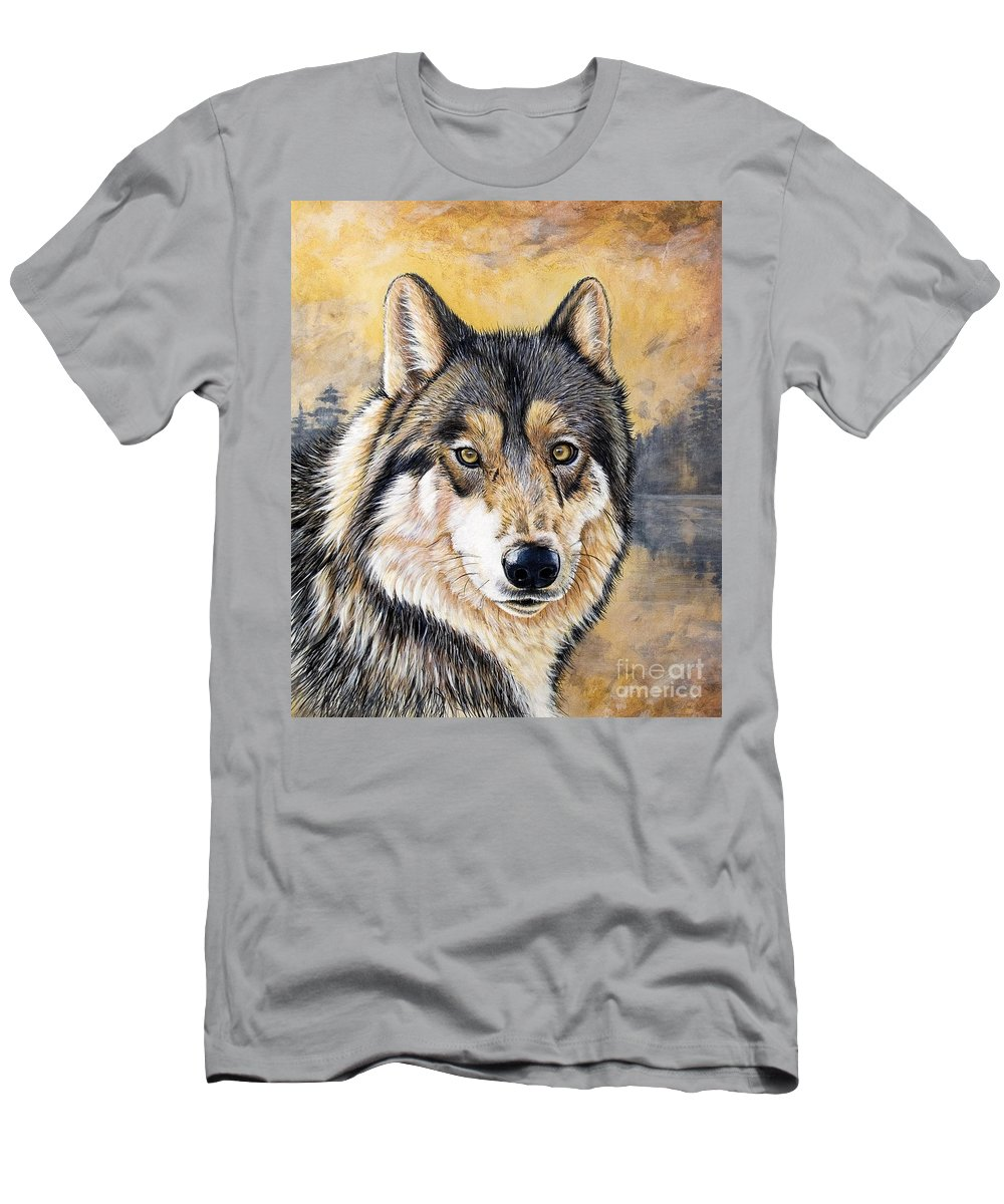 Acrylics Men's T-Shirt (Athletic Fit) featuring the painting Loki by Sandi Baker