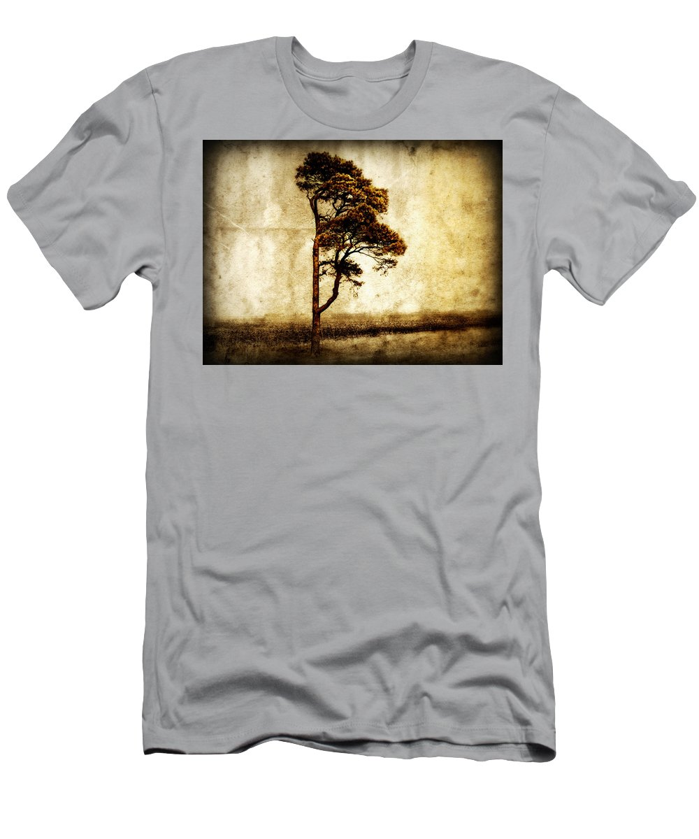 Tree Men's T-Shirt (Athletic Fit) featuring the photograph Lone Tree by Julie Hamilton