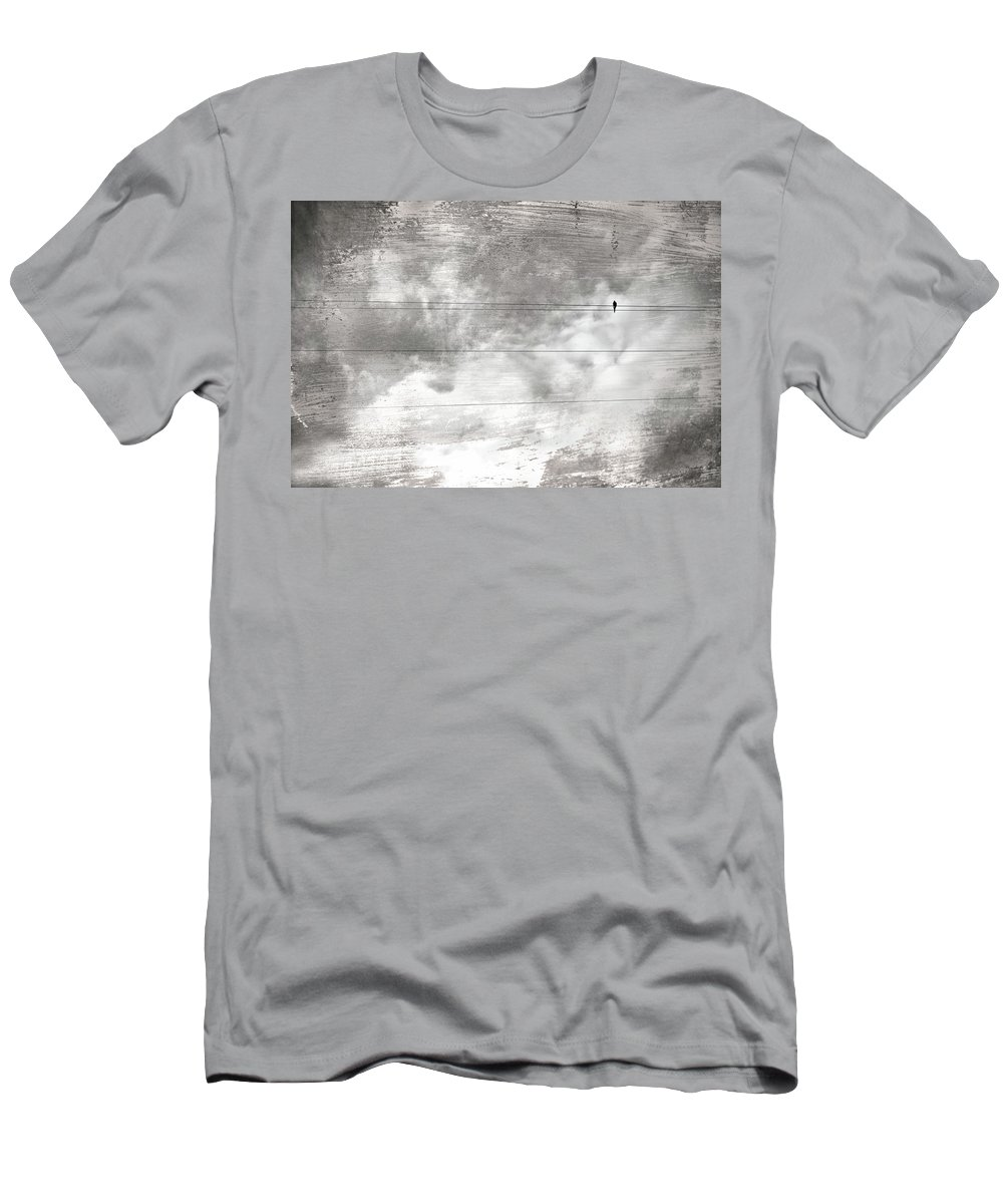 Solitude Men's T-Shirt (Athletic Fit) featuring the painting Lonesome Dove by Gray Artus