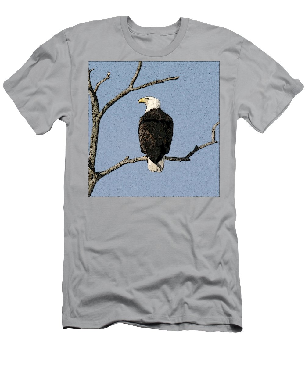 Eagle Men's T-Shirt (Athletic Fit) featuring the photograph Look Out by Robert Pearson