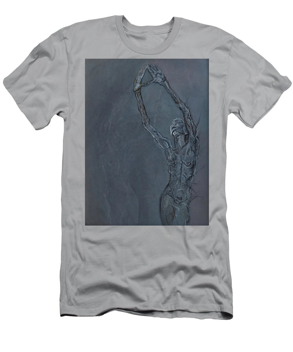 Female Men's T-Shirt (Athletic Fit) featuring the painting Looking Up by Maureen Murphy