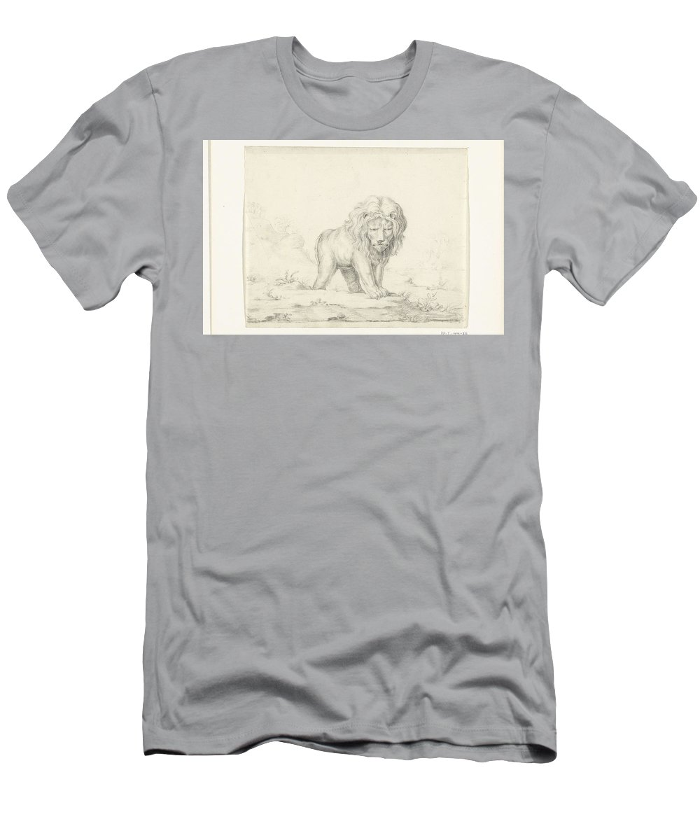 Art Men's T-Shirt (Athletic Fit) featuring the painting Lopende Leeuw, Van Voren, Jean Bernard, Abraham Bloteling, Peter Paul Rubens, 1775 - 1833 by Peter Paul Rubens