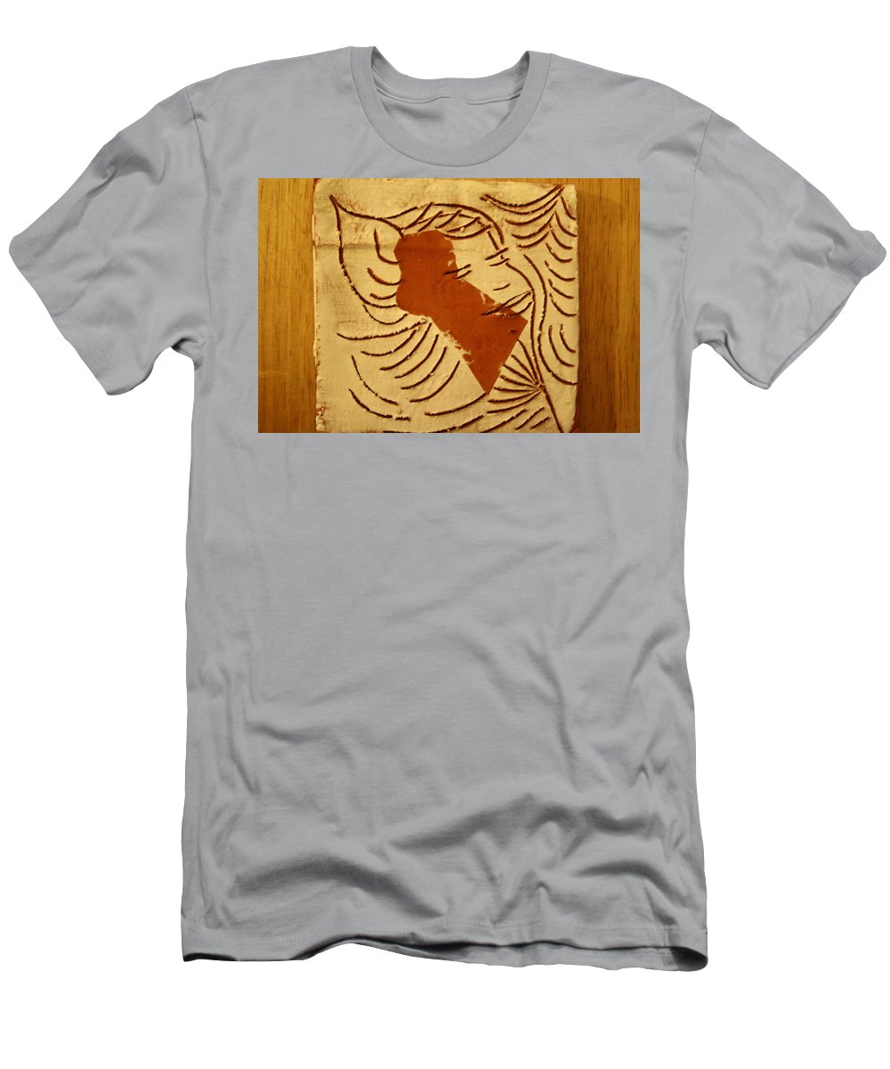 Jesus Men's T-Shirt (Athletic Fit) featuring the ceramic art Lornah- Tile by Gloria Ssali